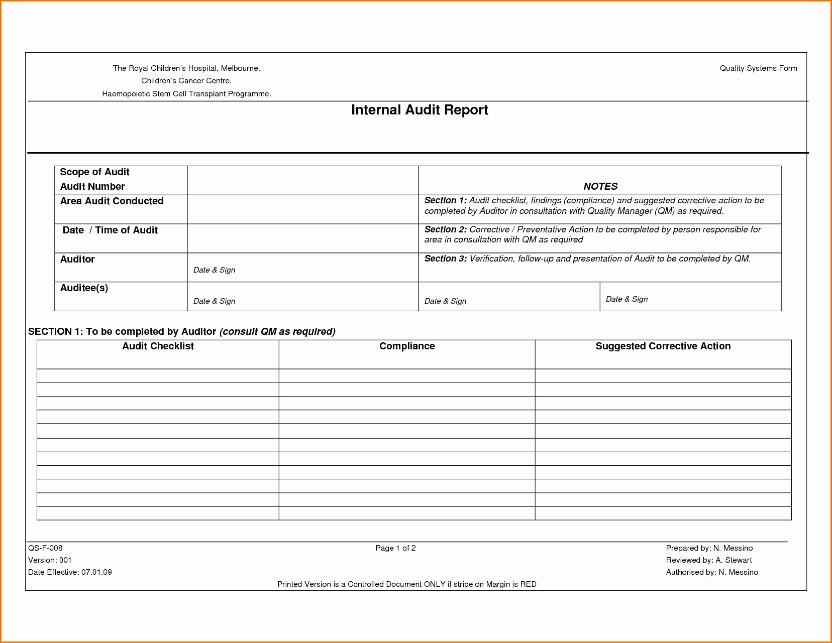 Internal Audit Report Templates Inspirational Sample Internal Audit Work Papers Excel Images