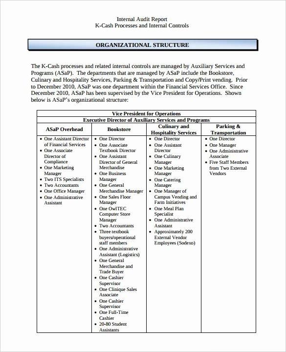 Internal Audit Report Templates Unique Free 14 Internal Audit Report Templates In Pdf