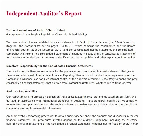 Internal Audit Reports Templates Awesome Sample Audit Report 16 Documents In Pdf Word
