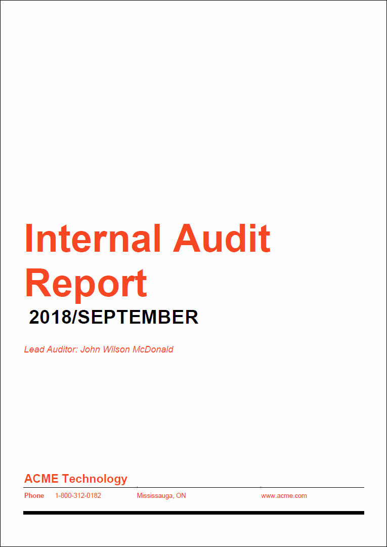 Internal Audit Reports Templates Luxury How to Prepare A High Impact Internal Audit Report