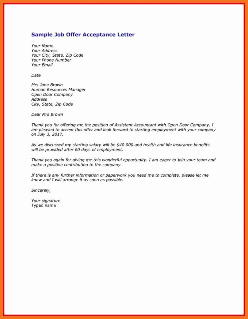Internship Offer Letter Template Best Of 5 6 Unpaid Internship Offer Letter