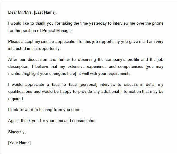 Interview Follow Up Email Template Awesome 9 Thank You Email Template after Interview Free Samples
