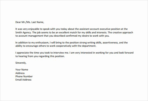 Interview Follow Up Email Template Beautiful Sample Follow Up Interview Letter 9 Download Free