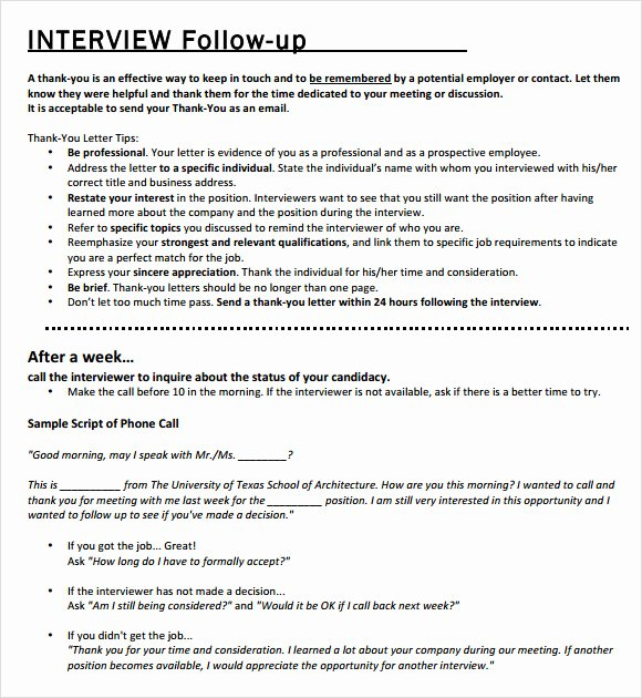 Interview Follow Up Email Template Best Of Follow Up Email Template 7 Premium and Free Download