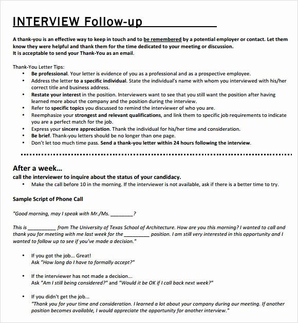 Interview Follow Up Email Template Elegant Follow Up Email Template 7 Premium and Free Download