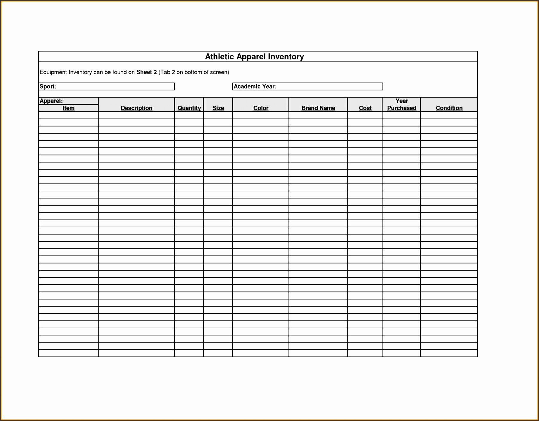Inventory Sign Out Sheet Template New 6 Sign Up Sheet Template Free Cost Sampletemplatess