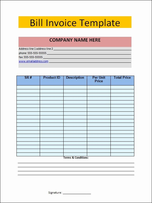 Invoice for Services Rendered Template Awesome Free 11 Word Invoice Samples In Word