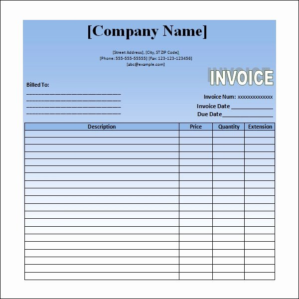 Invoice for Services Rendered Template New Word Invoice Template 14 Download Free Documents In Pdf