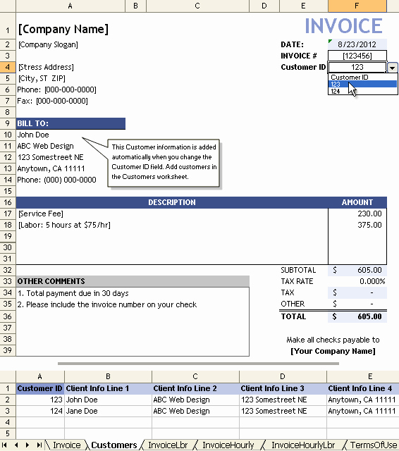 Invoice for Services Rendered Template Unique Service Invoice Template for Consultants and Service Providers