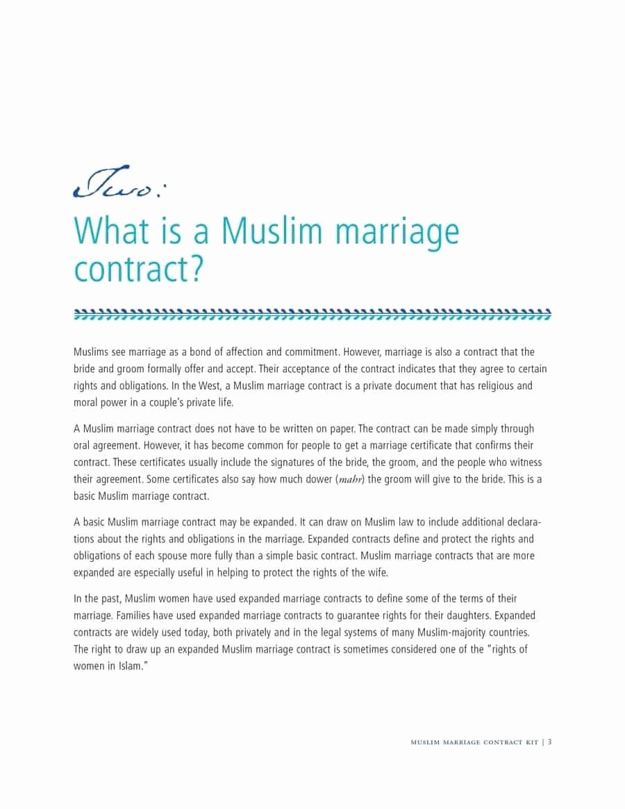 Islamic Marriage Contract Template Elegant Marriage Agreement Contract Fast 33 Marriage Contract