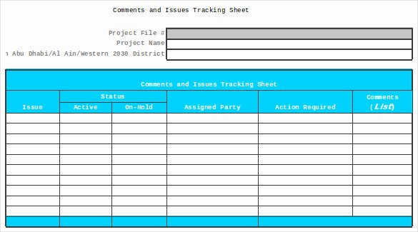 Issue Tracking Template Excel Unique issue Tracking Spreadsheet Template Excel