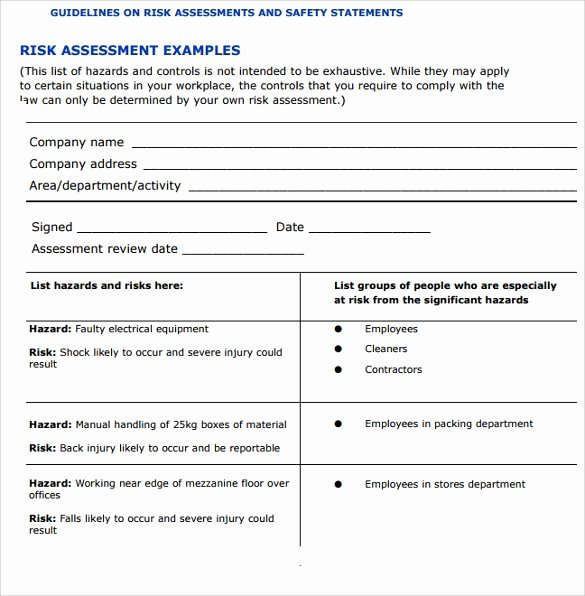 It Risk assessment Template Inspirational Free 11 Sample It Risk assessment Templates In Pdf