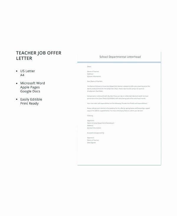 Job Offer Letter Template Word Best Of Free 15 Sample Job Fer Letters In Pdf Word
