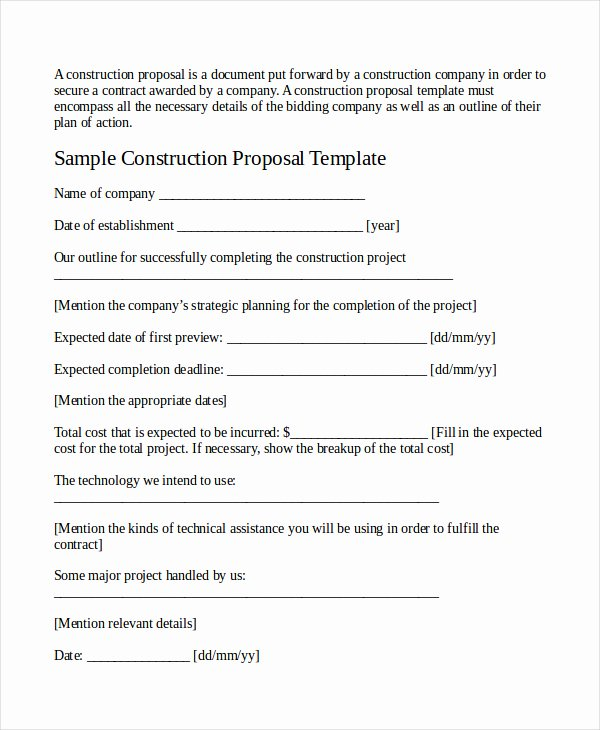 Job Proposal Template Pdf Beautiful Job Proposal Template