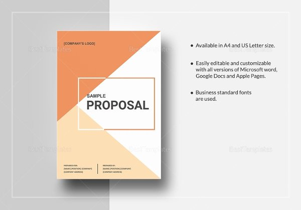 Job Proposal Template Pdf Elegant Job Proposal Template 18 Free Word Pdf Document