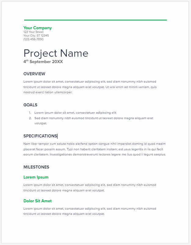 Job Proposal Template Pdf Lovely Project Proposal Template