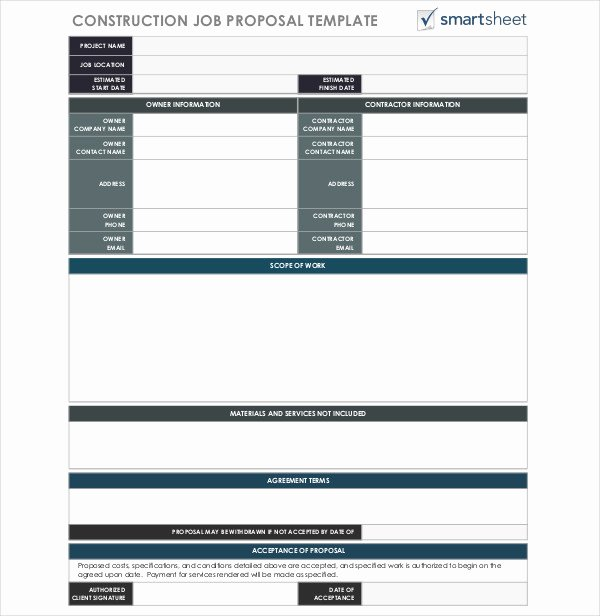 Job Proposal Template Pdf Luxury 5 Construction Job Proposal Pdf