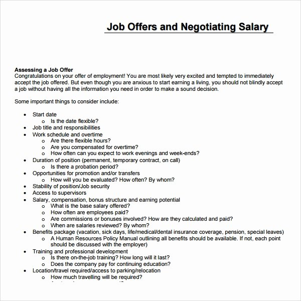 Job Proposal Template Pdf New Sample Salary Proposal Template 9 Free Documents In Pdf