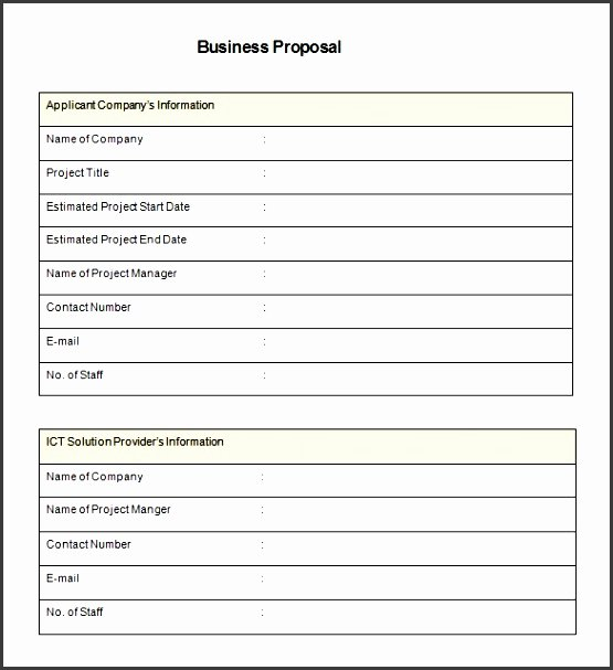 Job Proposal Template Pdf Unique 4 Make Free Job Proposal In Excel Sampletemplatess