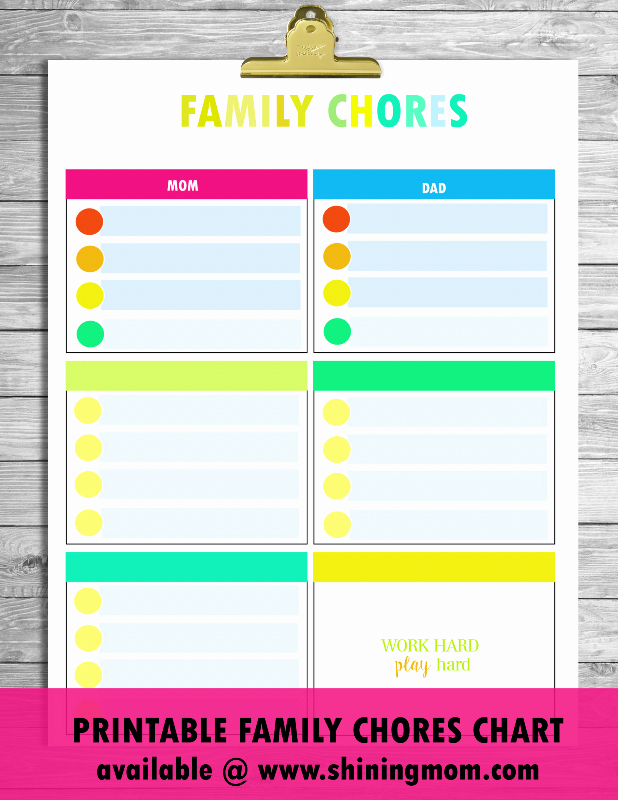 Kids Chore Chart Template Inspirational Free Printable Chore Charts that Work