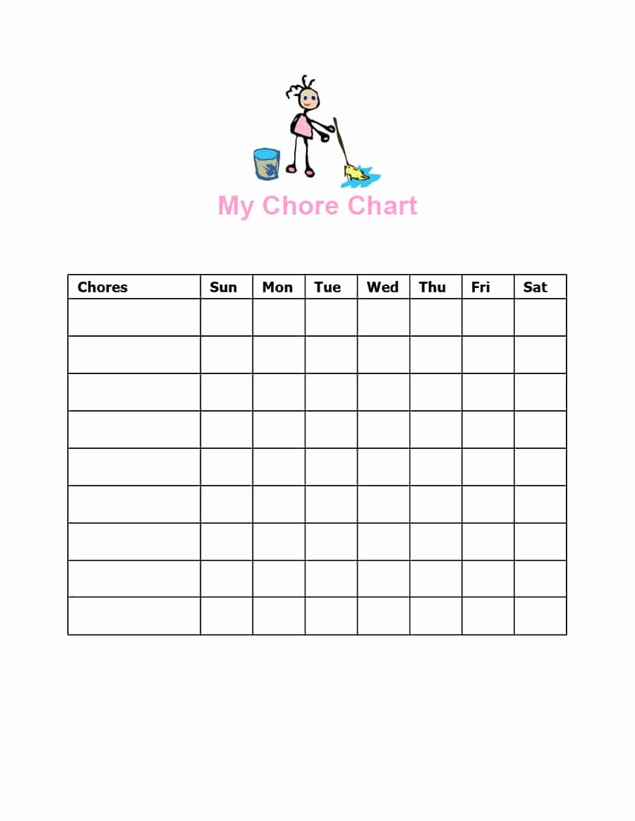 Kids Chore Chart Template Luxury Free Editable Printable Chore Charts with