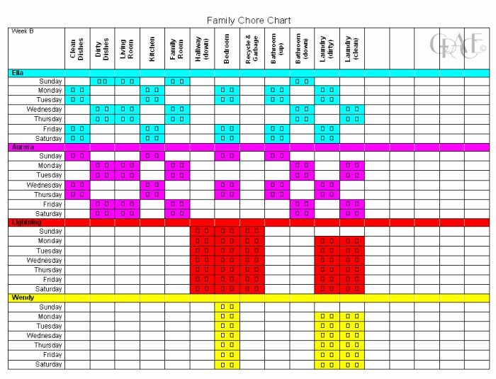 Kids Chore Chart Template New Family Chore Chart Chore Chart
