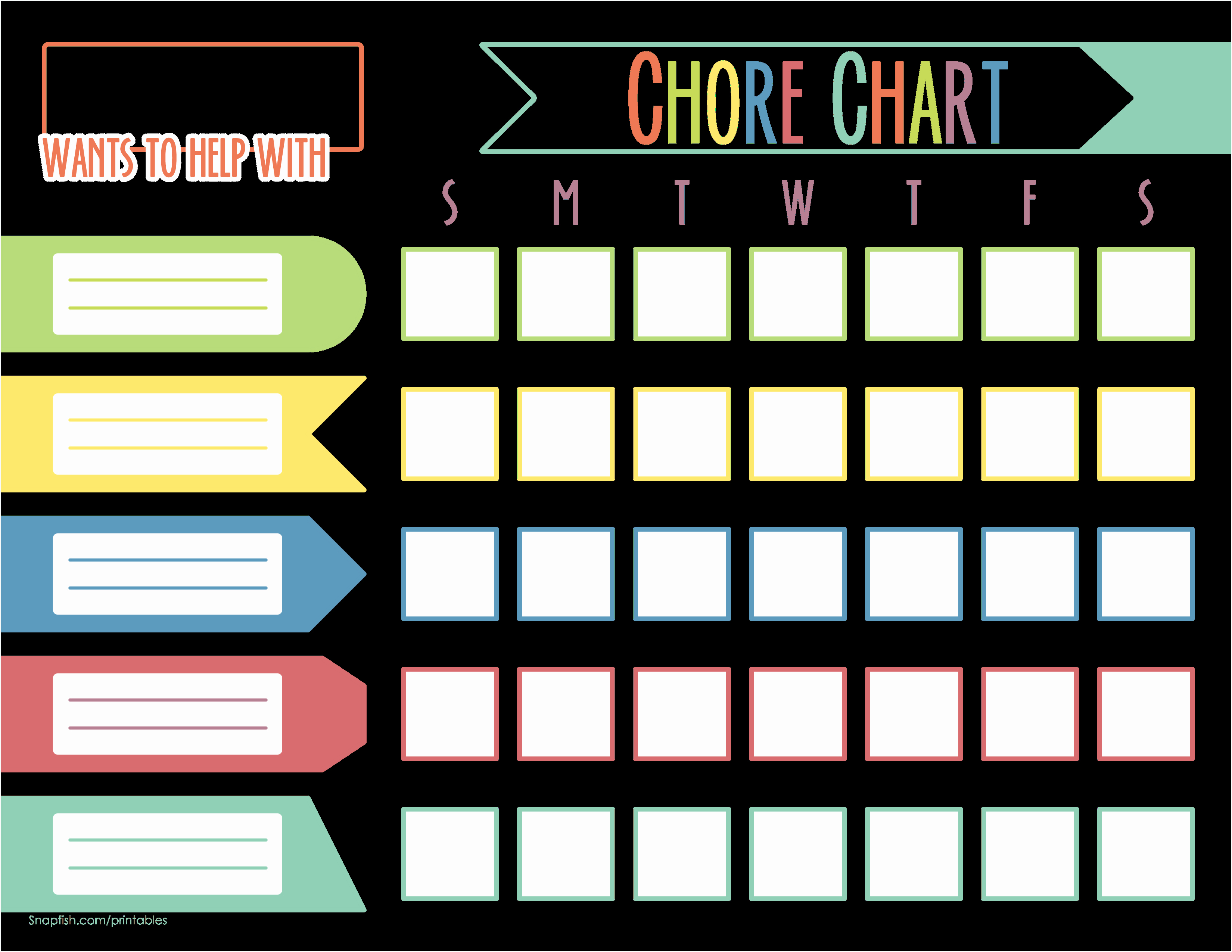 Kids Chore Chart Template Unique Chore Chart for Kids