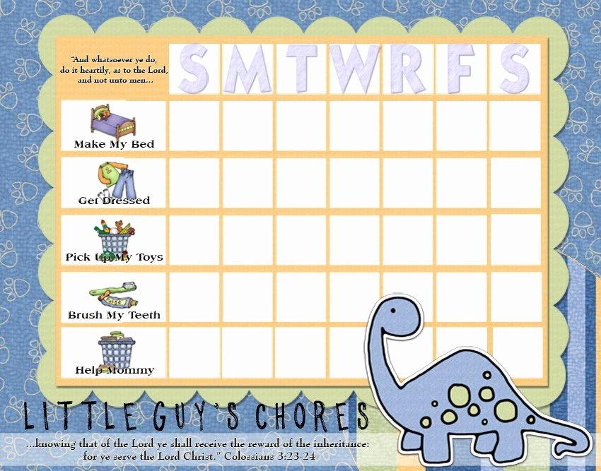 Kids Chore Chart Template Unique Rantin & Ravin Kids Chore Charts