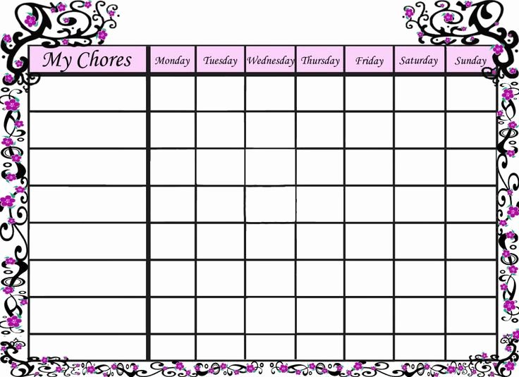 Kids Chore Chart Templates Elegant Free Printable Behavior Charts Reward Charts and Visual