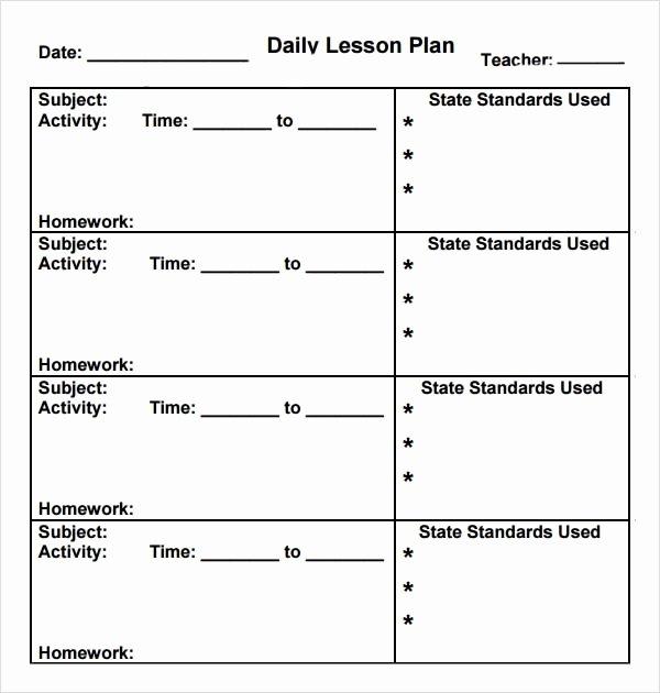 Kindergarten Lesson Plan Template Elegant Preschool Lesson Plan Template 7 Download Free