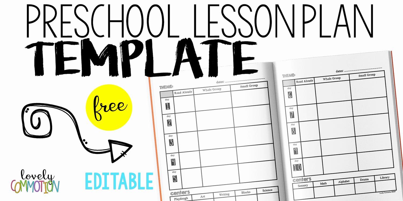 Kindergarten Lesson Plan Template Lovely Easy and Free Preschool Lesson Plan Template — Lovely