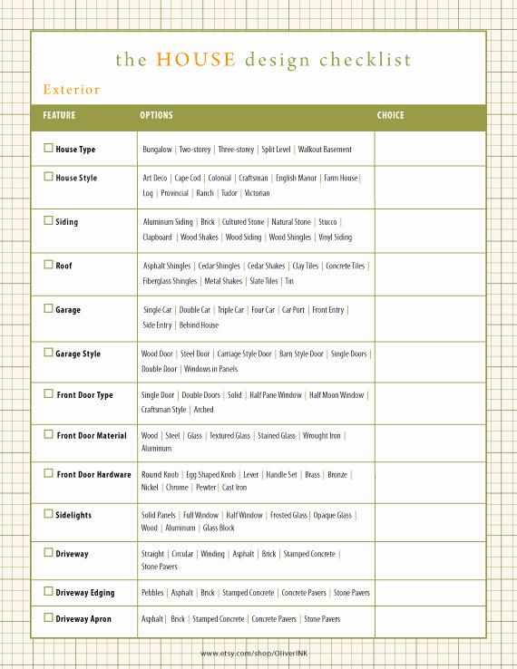 Kitchen Renovation Checklist Template Luxury Home Renovation Checklist Home Building Checklist by Oliverink