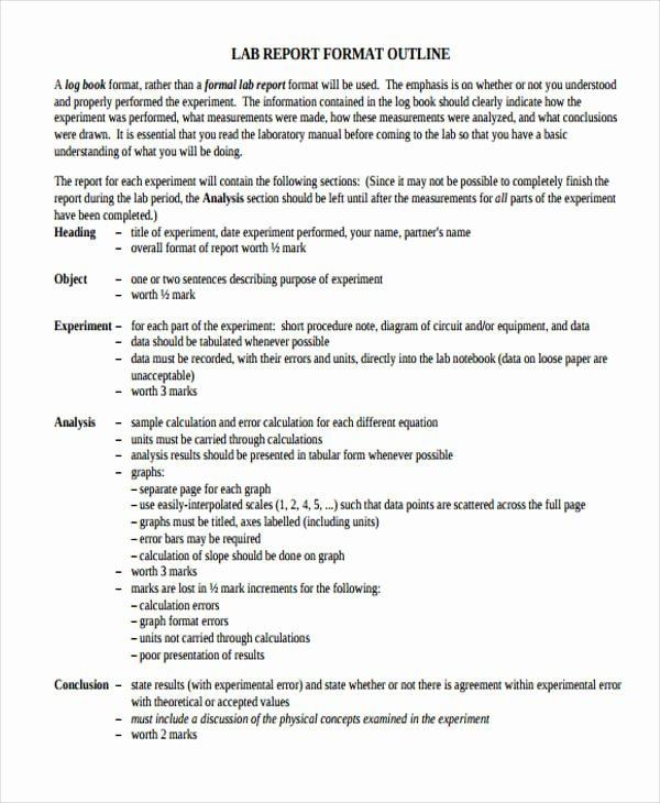 lab report sample