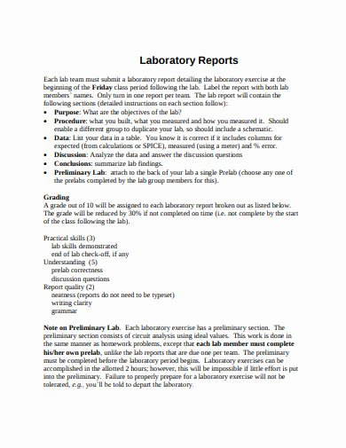 Lab Report Template Word Awesome 13 Lab Report Templates In Google Docs Word