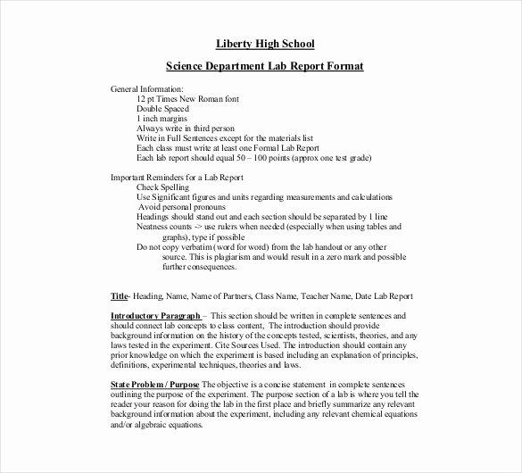 Lab Report Template Word Beautiful 16 Laboratory Report Templates Free Pdf Ms Word Apple