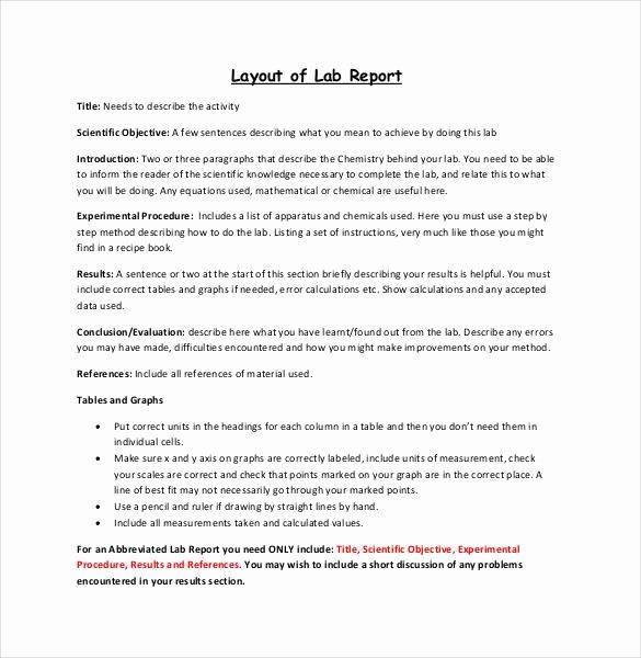 Lab Report Template Word Elegant 29 Lab Report Templates Pdf Google Docs Word Apple
