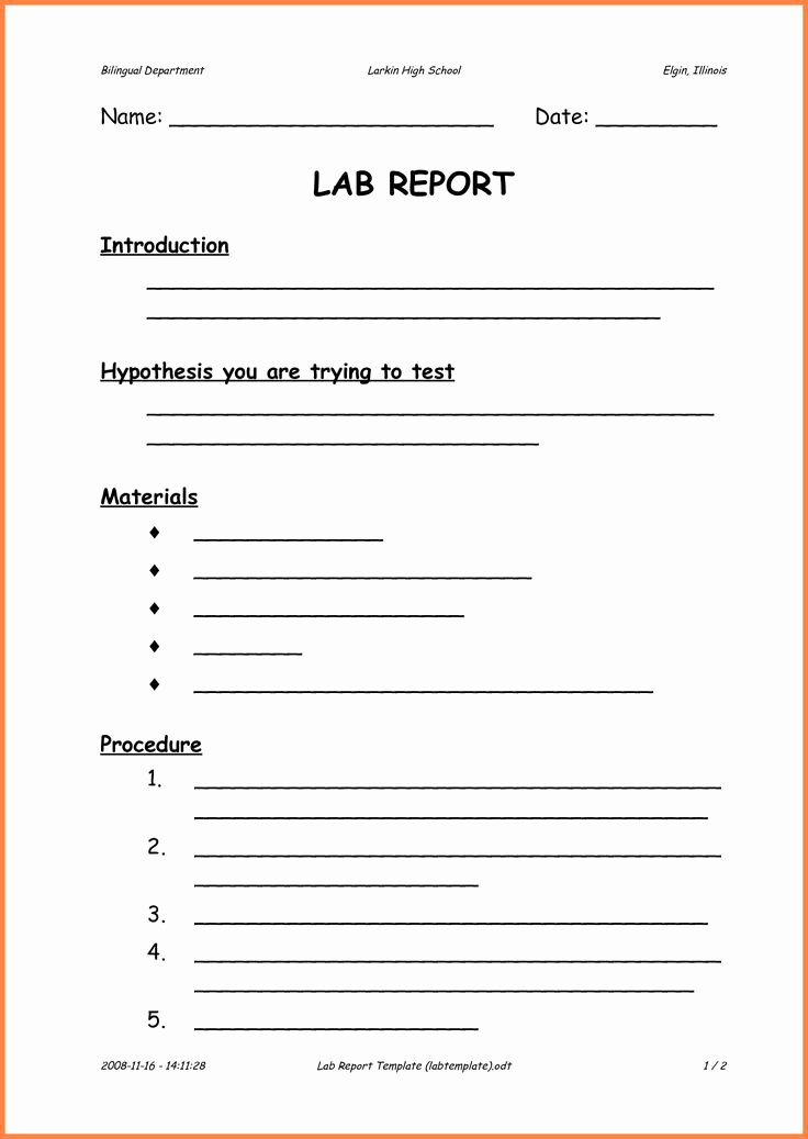 Lab Report Template Word Fresh 25 Best Invoice Example Ideas On Pinterest