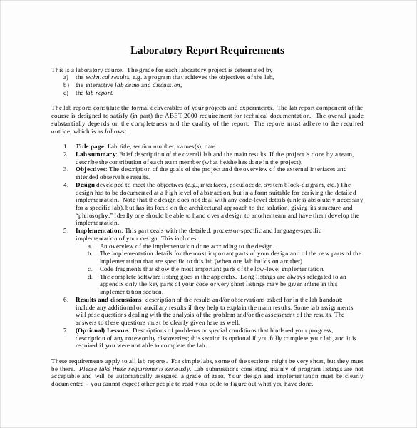 Lab Report Template Word Fresh 29 Lab Report Templates Pdf Google Docs Word Apple