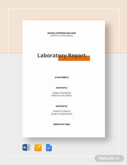 Lab Report Template Word New 29 Lab Report Templates Pdf Google Docs Word Apple