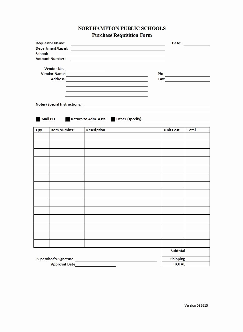 Lab Requisition form Template Lovely 50 Professional Requisition forms [purchase Materials Lab]
