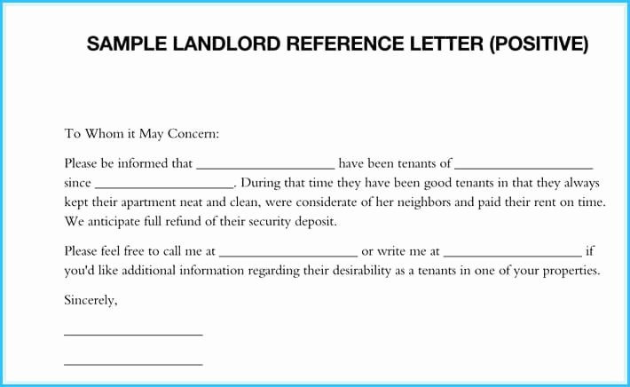 Landlord Reference Letter Template Best Of 5 Sample Landlord Reference Letters What is It & How to