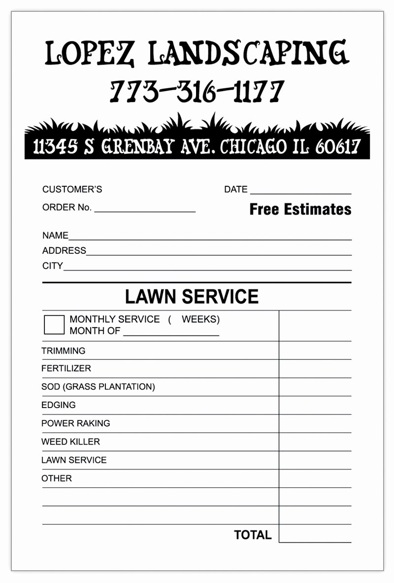 Landscaping Invoice Template Free Fresh Landscaping Invoice Template Word