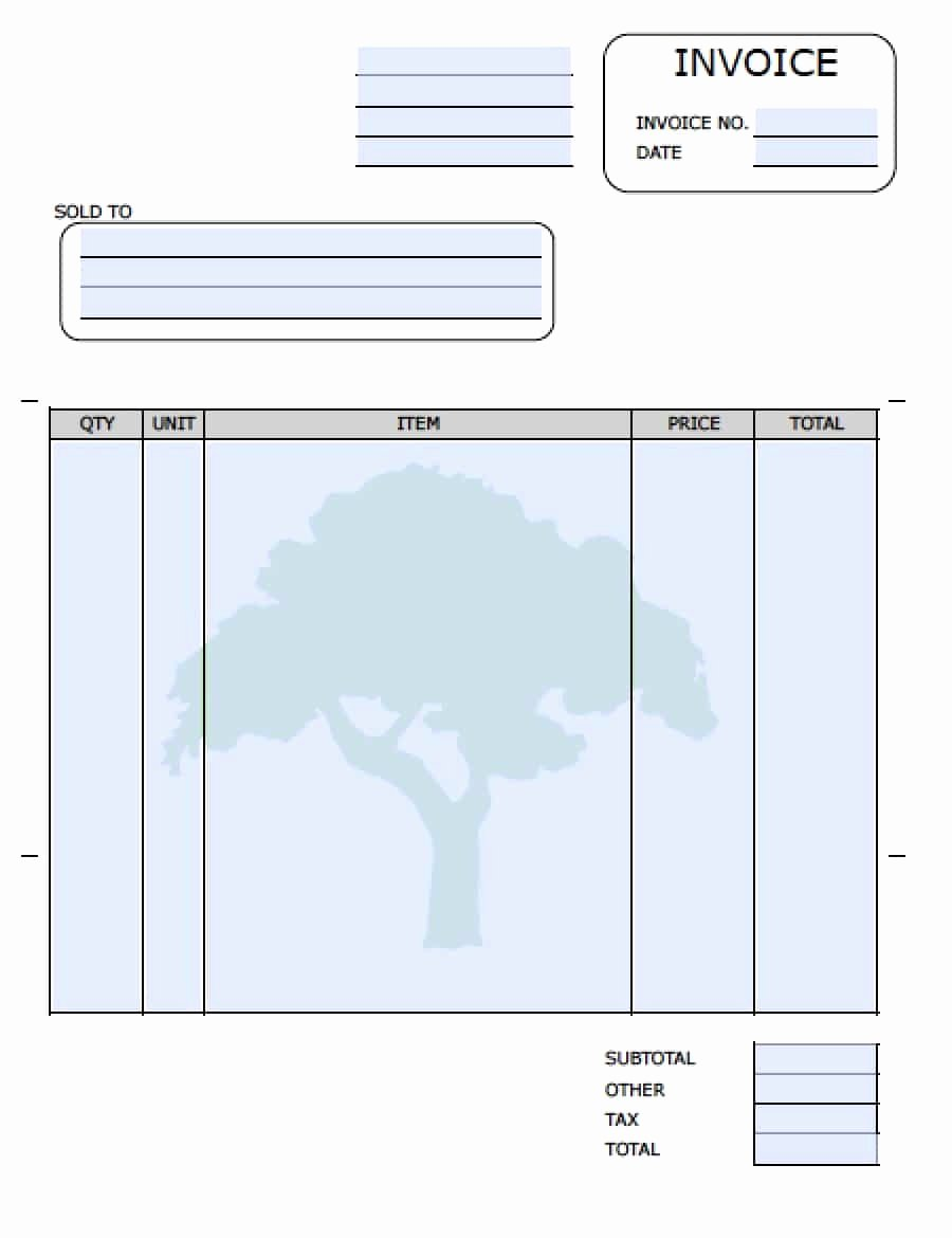 Landscaping Invoice Template Free Inspirational Lawn Care Invoice Template Eliminate Your Fears and Doubts