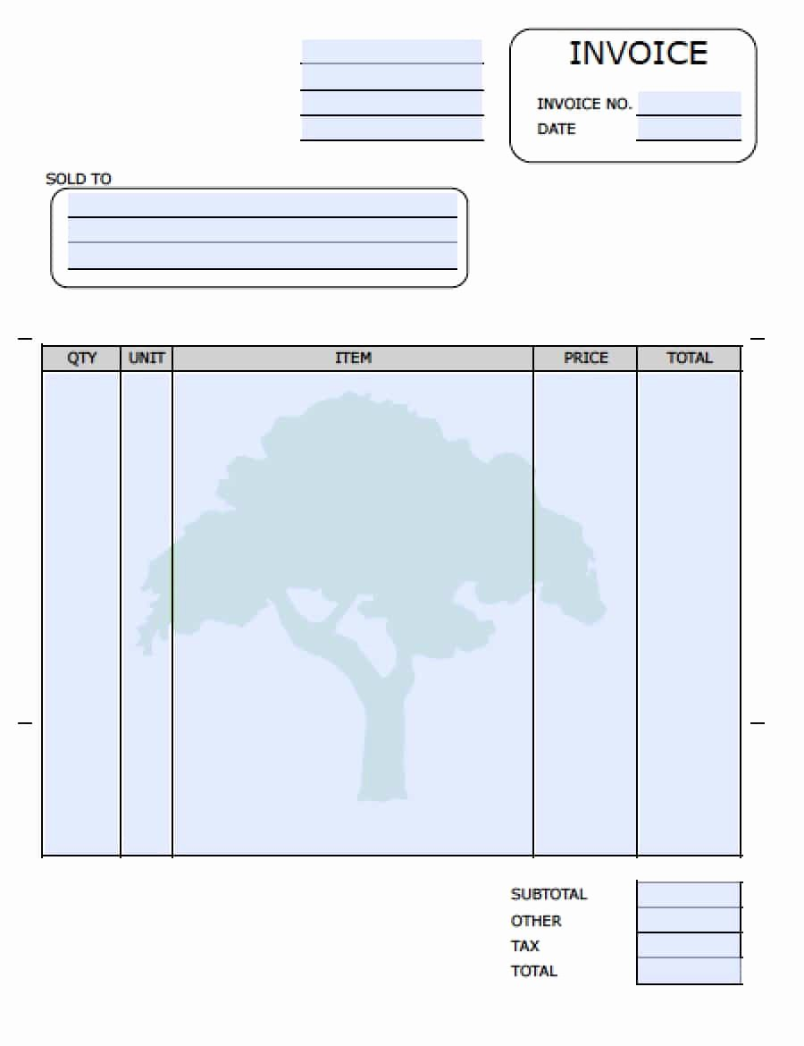Landscaping Invoice Template Free Lovely Free Lawn Care Invoice Template