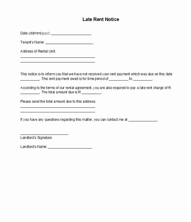Late Rent Notice Template Free Awesome 34 Printable Late Rent Notice Templates Template Lab