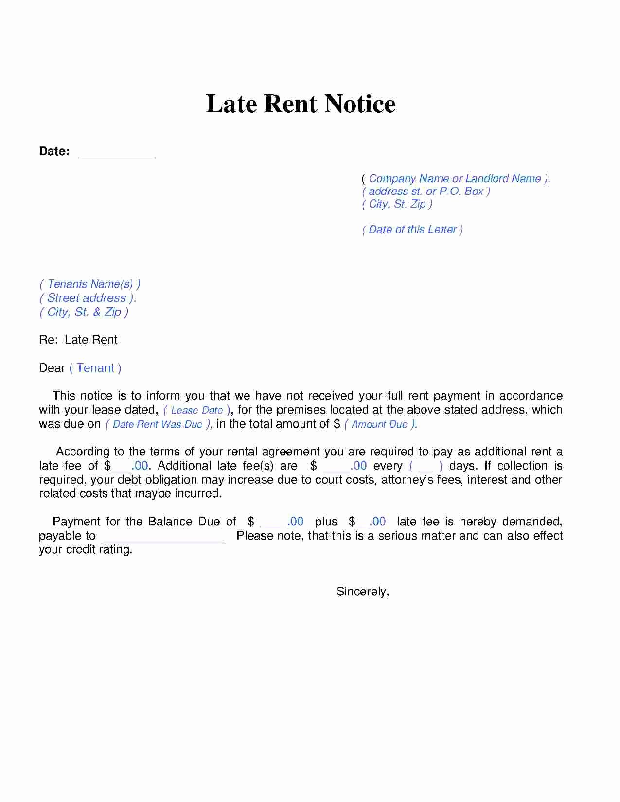 Late Rent Notice Template Free Beautiful Download Late Rent Notice Style 14 Template for Free at