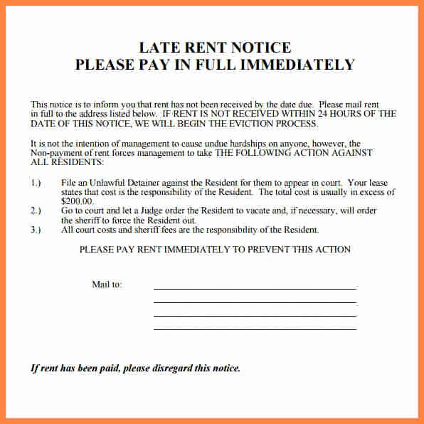 Late Rent Notice Template Free Lovely 11 Rental Notice Template