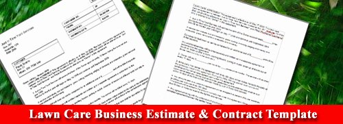 Lawn Care Contract Template Beautiful Lawn Care Business Estimate & Contract Template