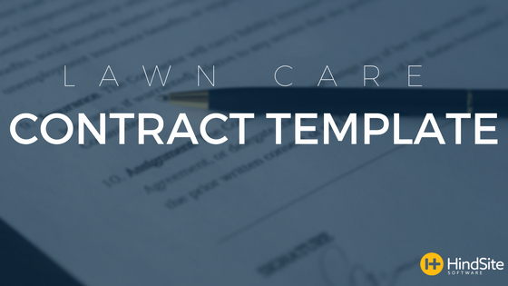 Lawn Care Contract Template Fresh Lawn Care Contract Template