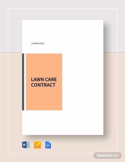 Lawn Care Contract Template Inspirational 9 Lawn Service Contract Templates Pdf Doc Apple Pages